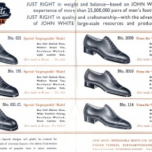 Rushden footwear company advertising