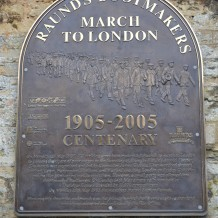 Raunds March 2005 Commemorative Plaque